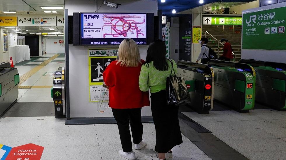 إحدى محطات القطار في العاصمة اليابانية طوكيو