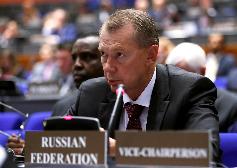مندوب روسيا الدائم لدى منظمة حظر الأسلحة الكيميائية ألكسندر شولغين