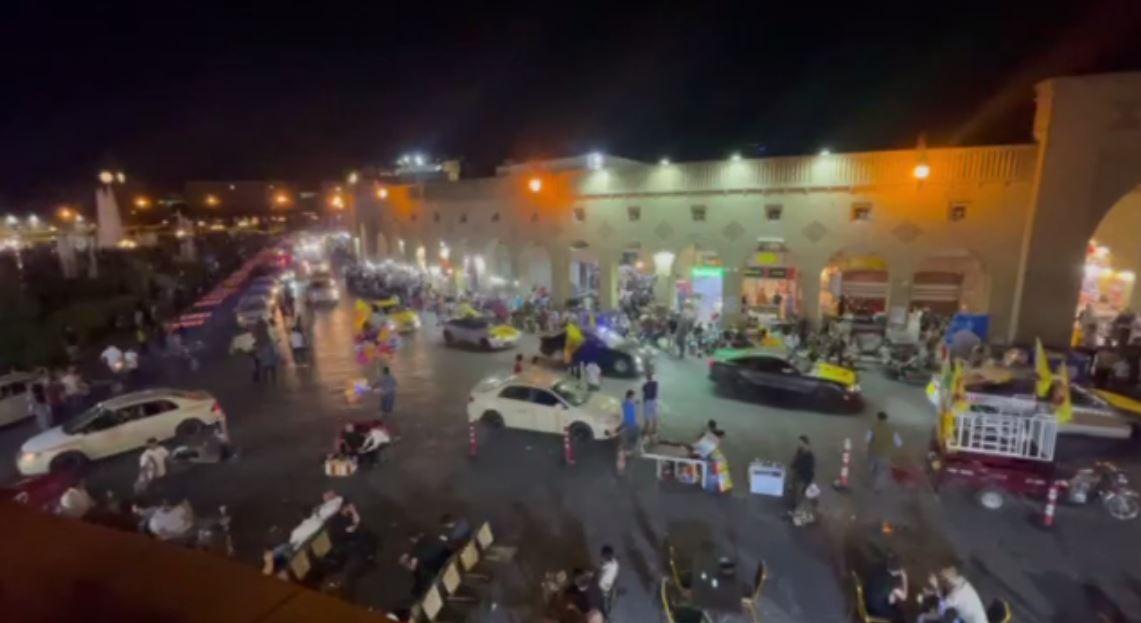 مشاهد من مظاهر احتفالات الحزب الديمقراطي الكردستاني في أربيل