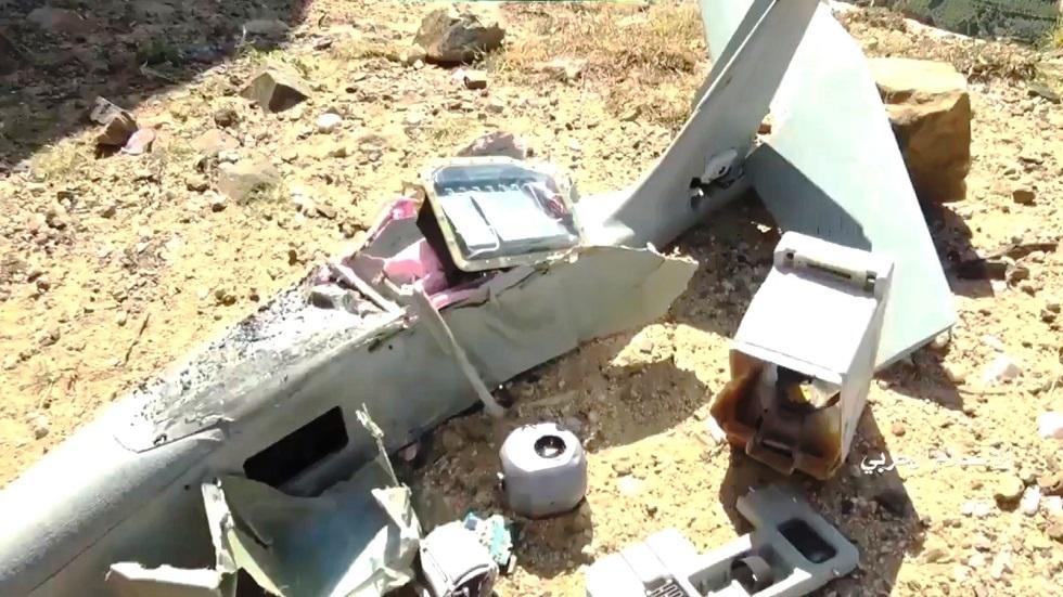 الحوثيون ينشرون فيديو لطائرة الاستطلاع السعودية التي أسقطوها في جبهة جيزان
