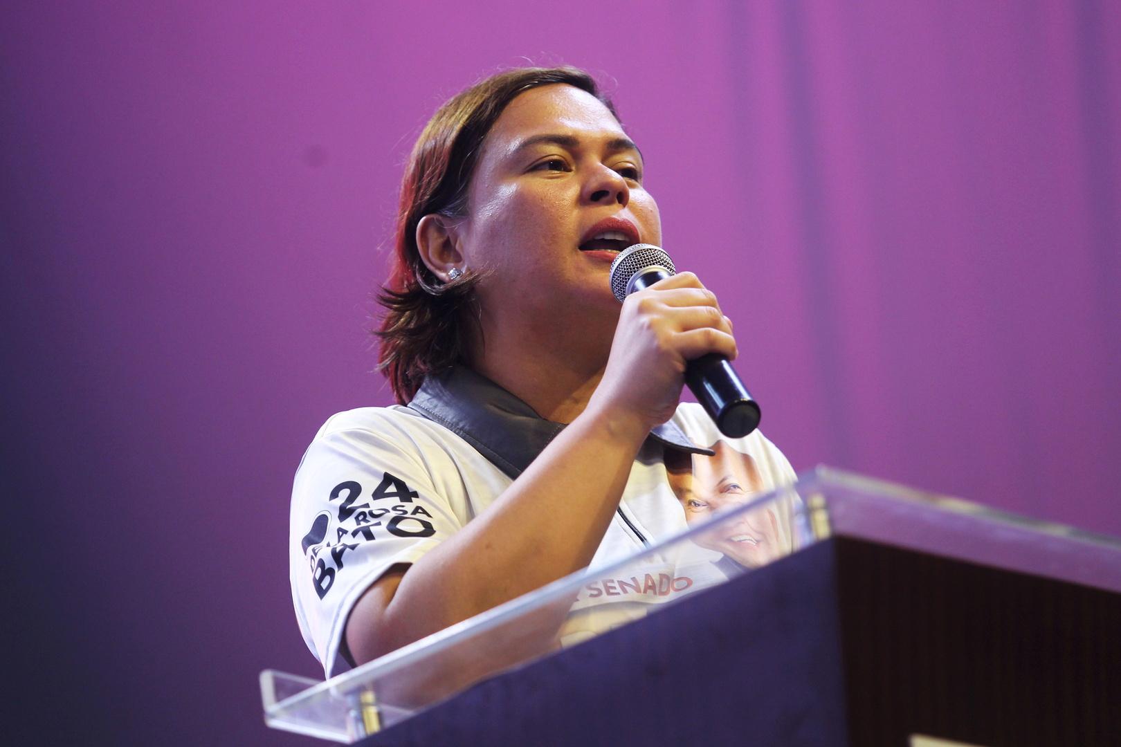 سارة دوتيرتي عمدة مدينة دافاو وابنة الرئيس الفلبيني رودريغو دوتيرتي