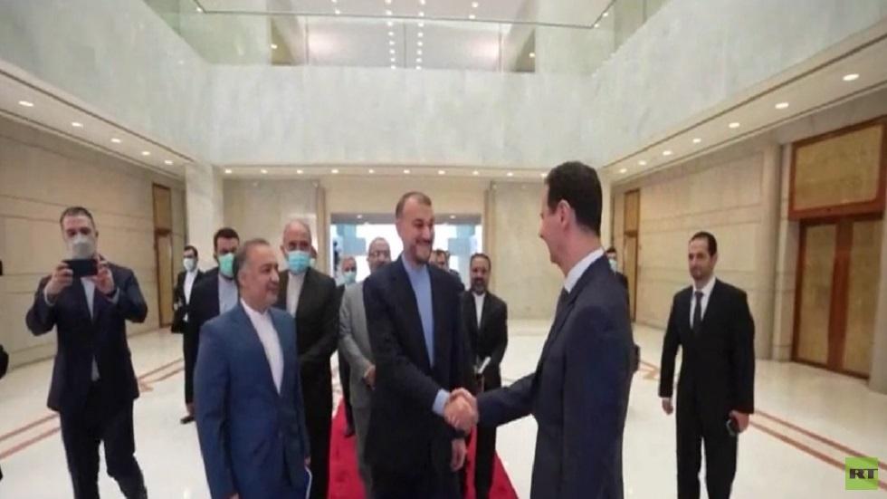 عبد اللهيان في دمشق لبحث تطوير التعاون