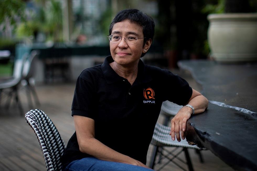 الصحفية الفلبينية الفائزة بجائزة نوبل للسلام ماريا ريسا