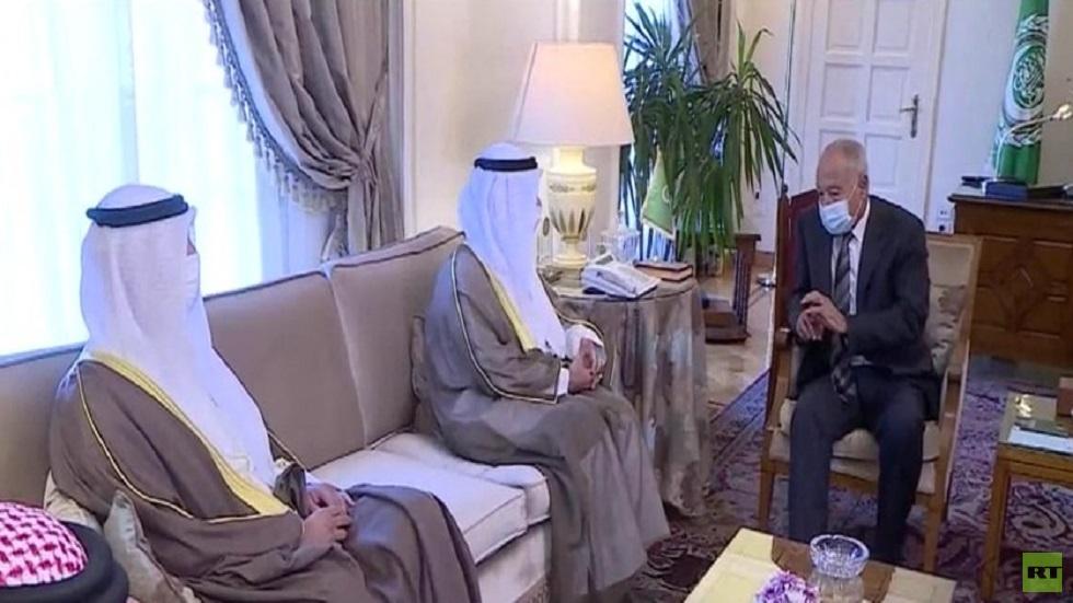 مباحثات أبو الغيط و الحجرف في القاهرة