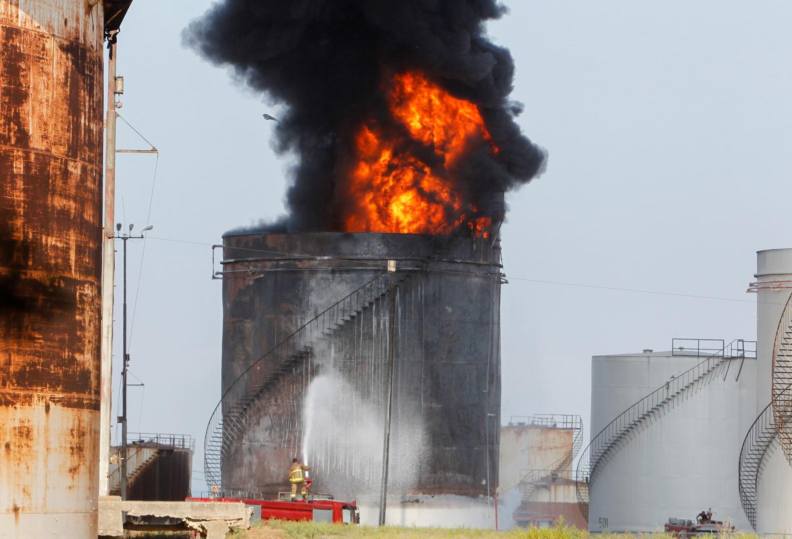 حريق في منشأة الزهراني النفطية بلبنان