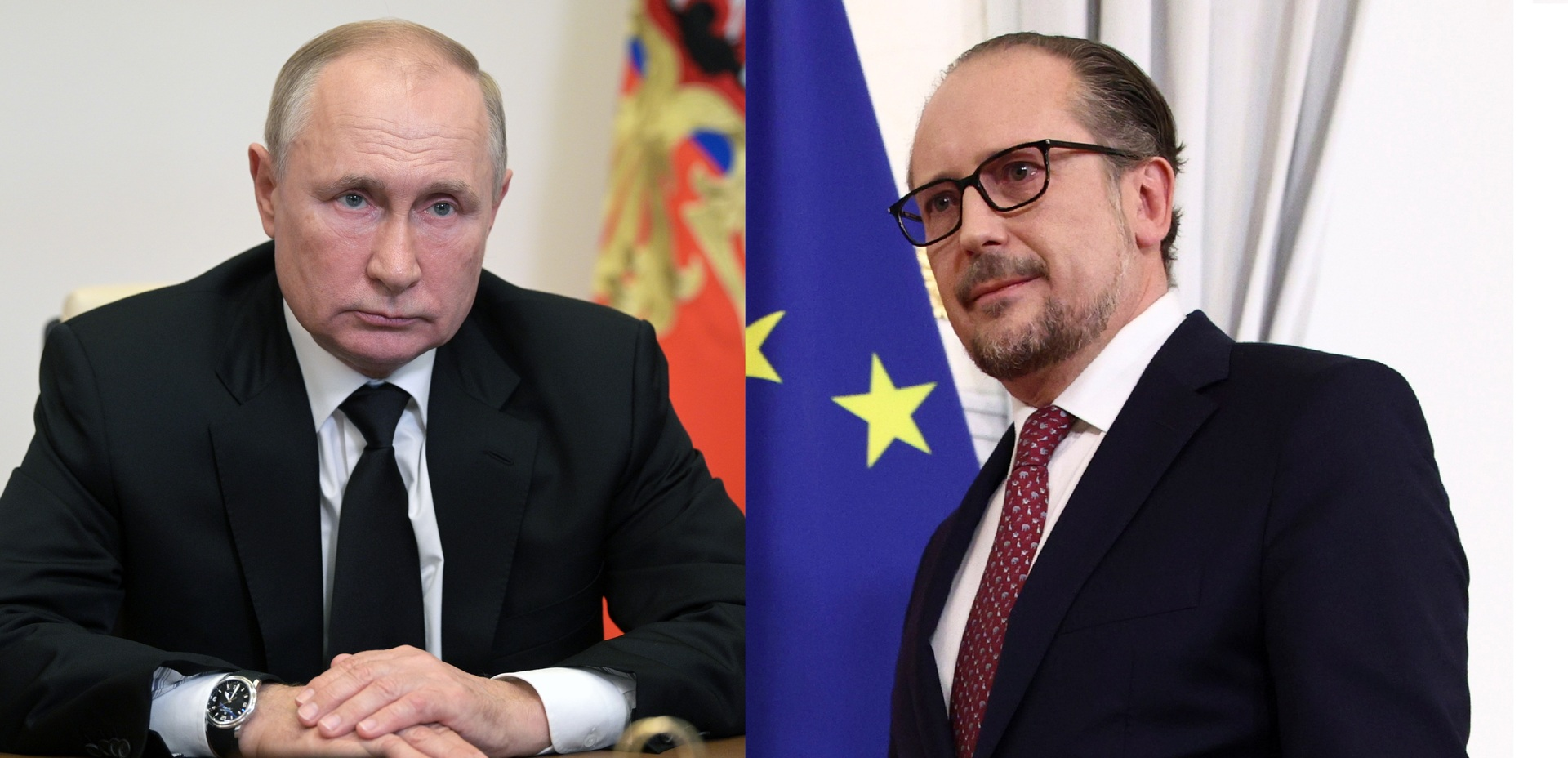 الرئيس الروسي فلاديمير بوتين والمستشار النمساوي الجديد ألكسندر شالنبرغ