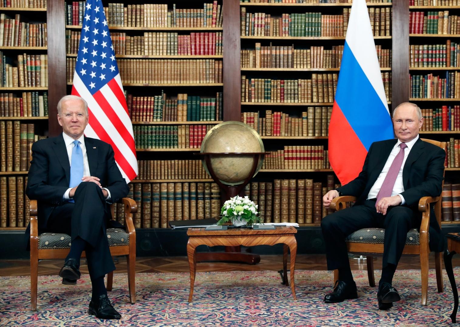 بوتين: لدي علاقات عملية مستدامة مع بايدن ومصالح موسكو وواشنطن في مجالي الأمن والطاقة تتطابق