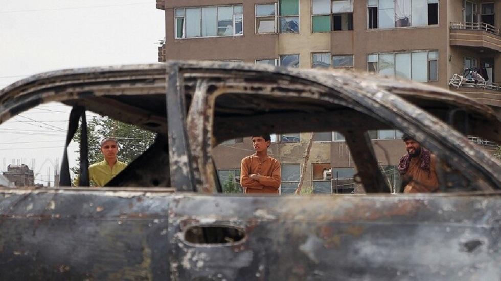 آثار ضربة صاروخية أمريكية في كابل بأفغانستان - أرشيف