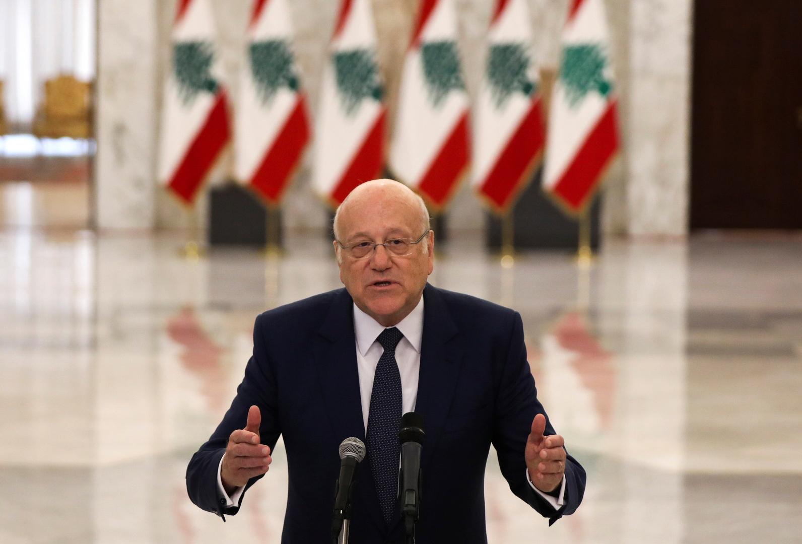 ميقاتي: لبنان يشبه اليوم المريض في غرفة الطوارئ والجيش أثبت قدرته على حفظ الأمن