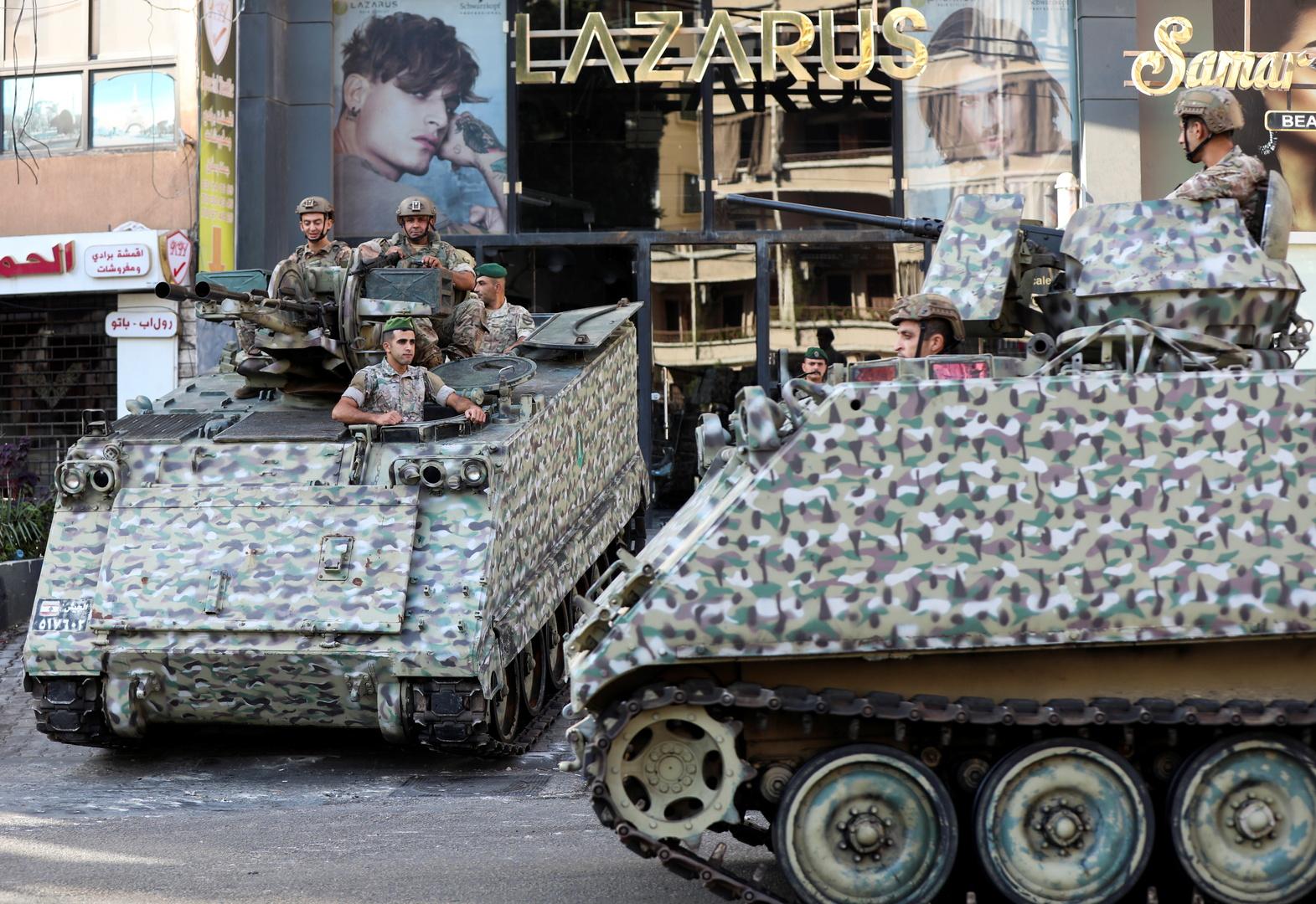 الجيش اللبناني خلال أحداث الطيونة