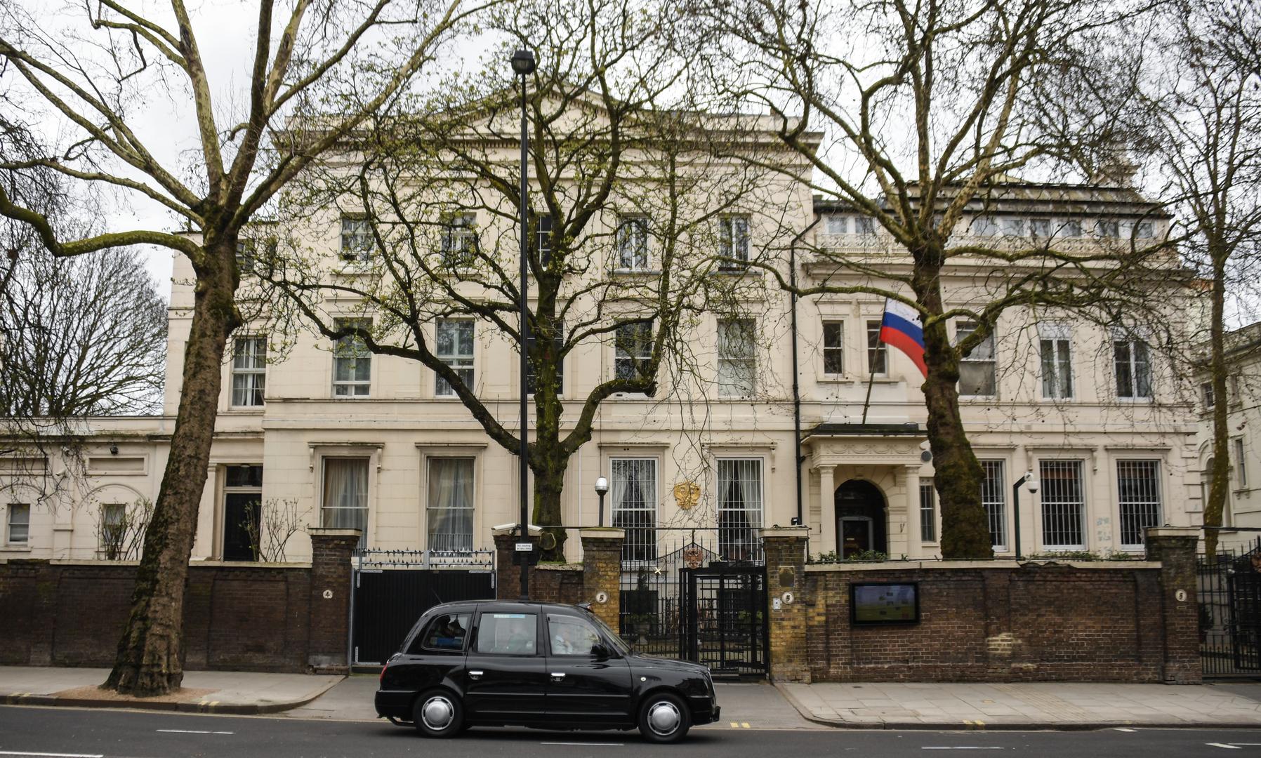 مبنى السفارة الروسية في لندن