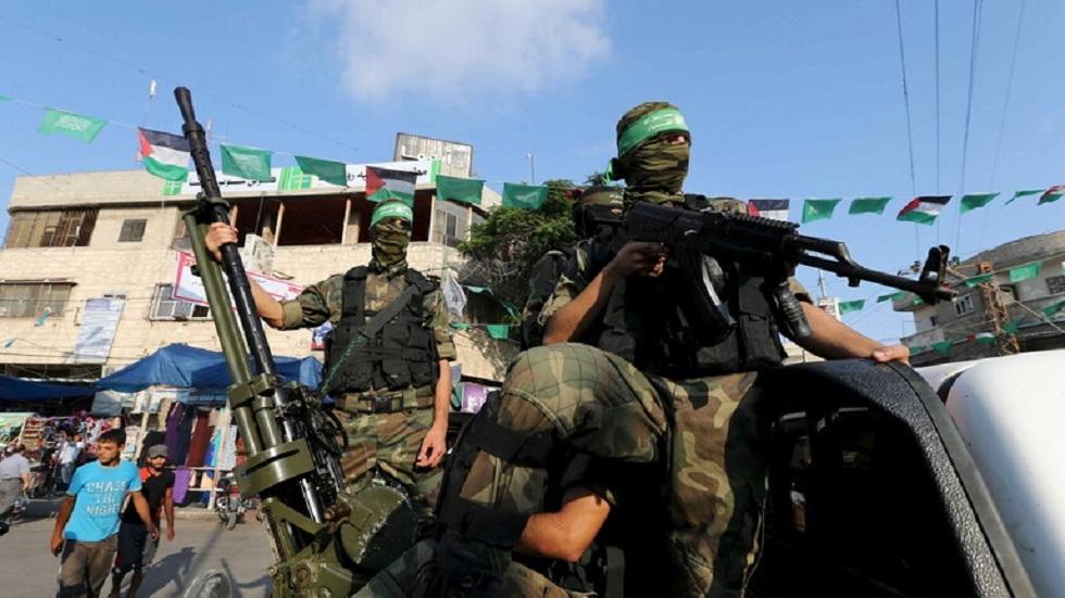 """عناصر من كتائب """"القسام""""، الجناح العسكري لحركة """"حماس"""""""