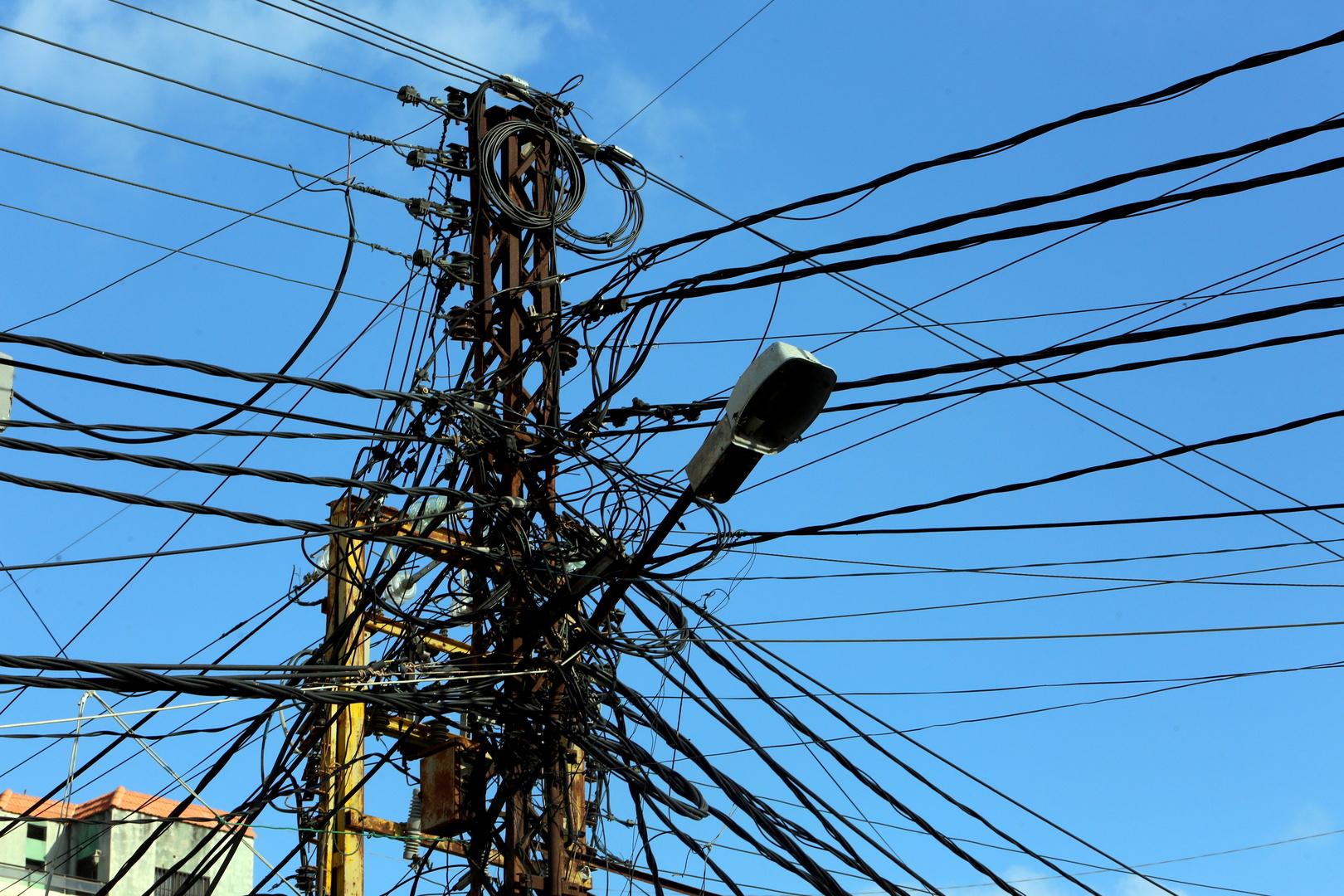 عمود كهرباء في لبنان
