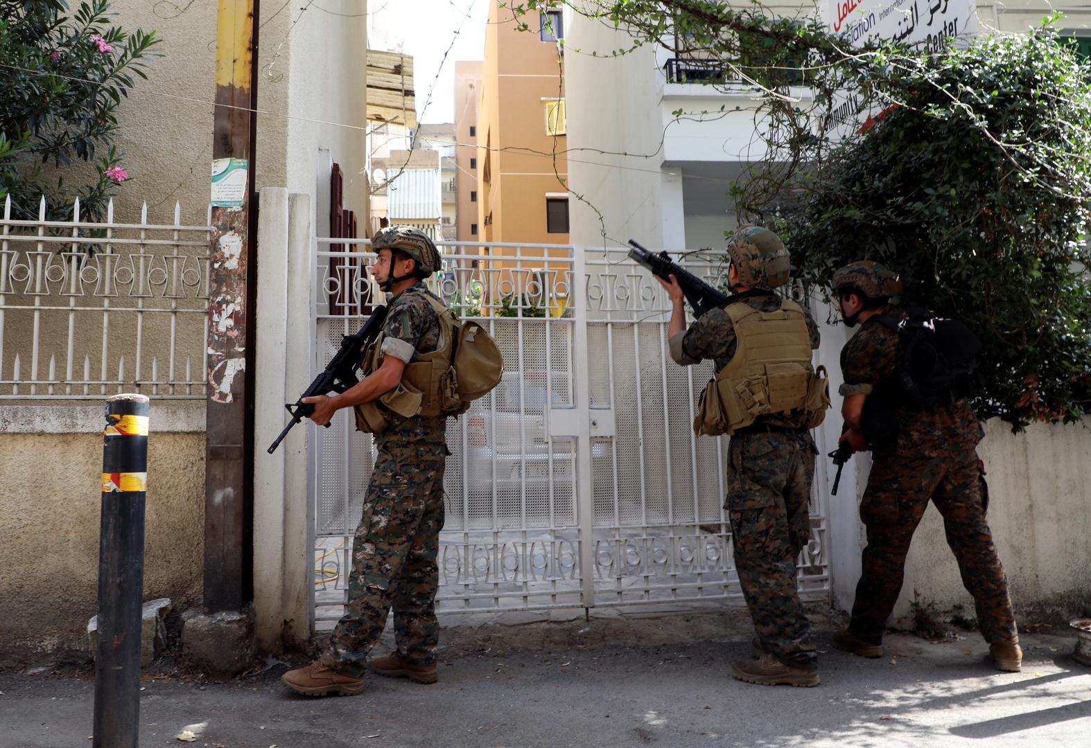عناصر من الجيش اللبناني خلال أحداث الطيونة