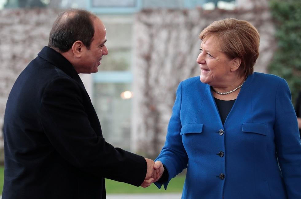 المستشارة الألمانية أنغيلا ميركل والرئيس المصري عبد الفتاح السيسي