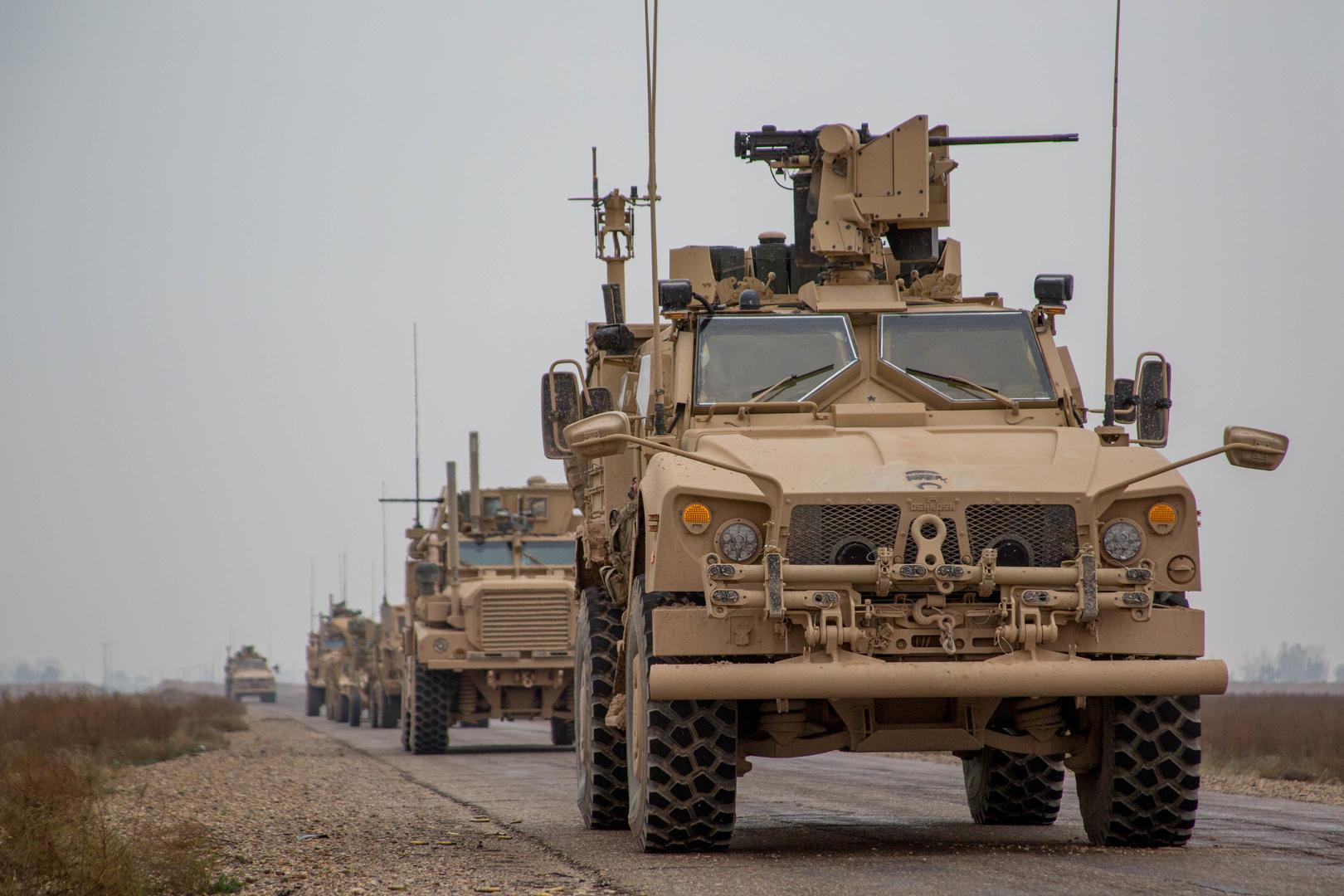 آليات تابعة للجيش الأمريكي في سوريا