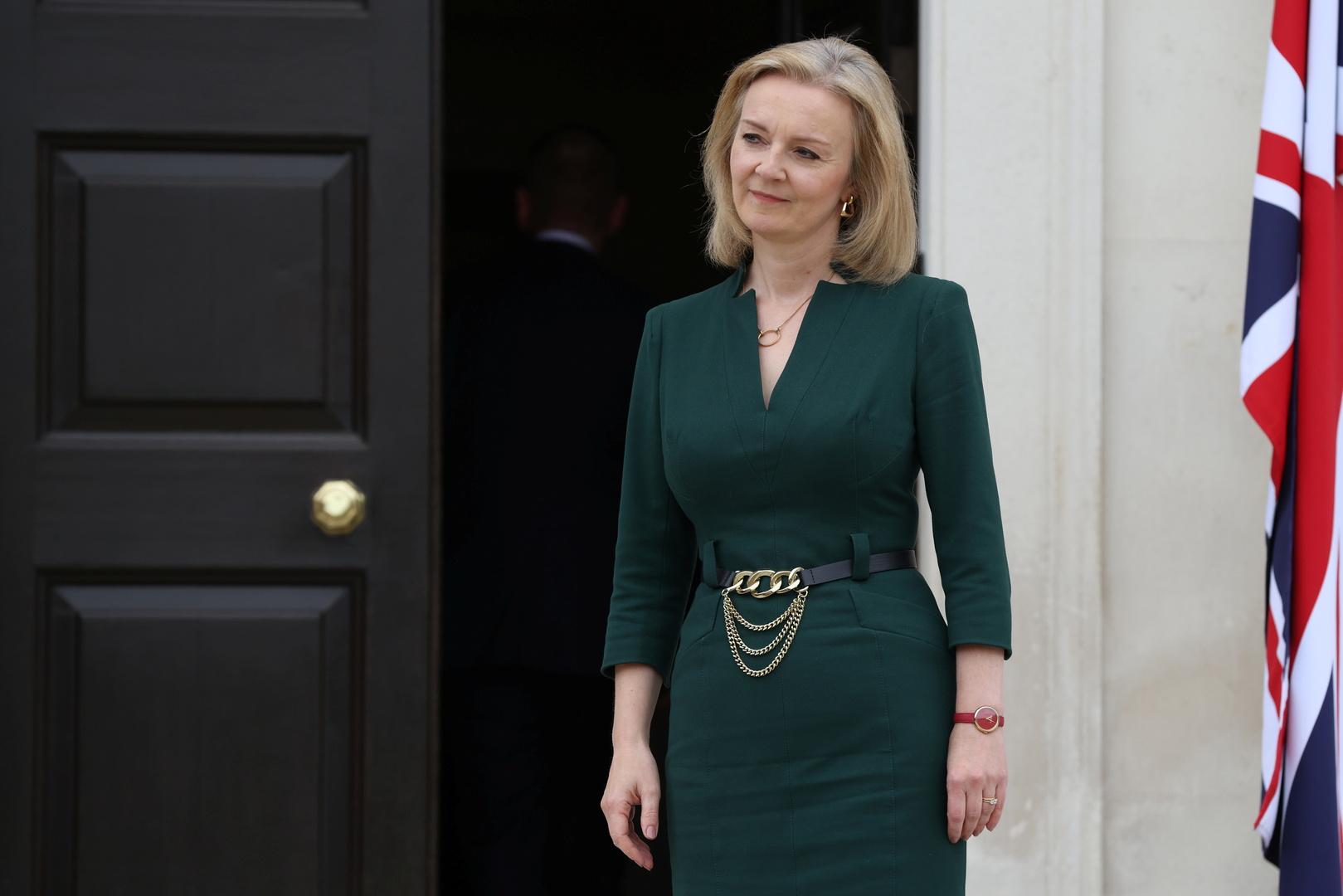 وزيرة الخارجية البريطانية ليز تروس