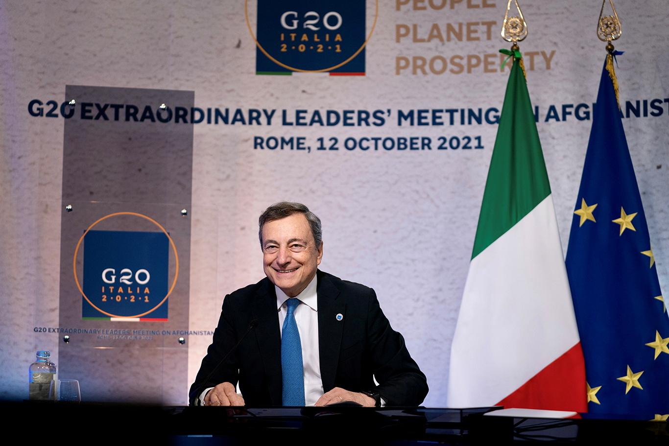 رئيس الوزراء الايطالي ماريو دراغي