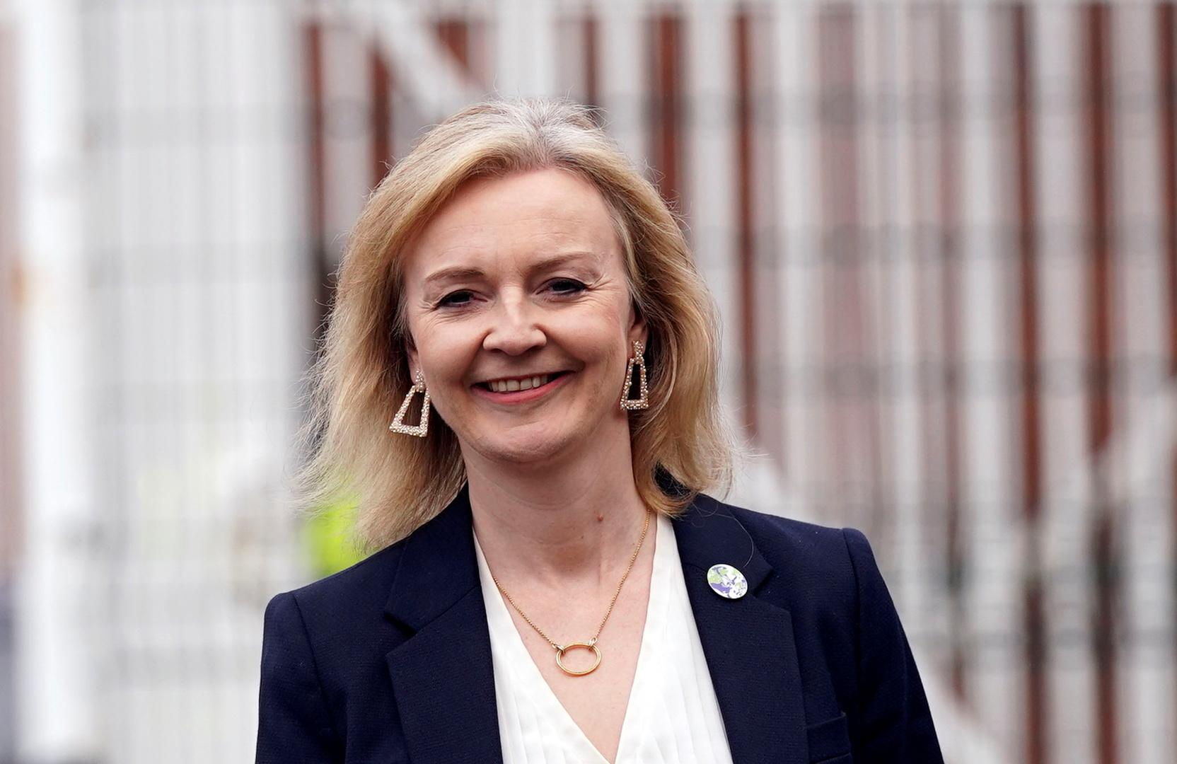وزيرة الخارجية البريطانية، ليز تراس.