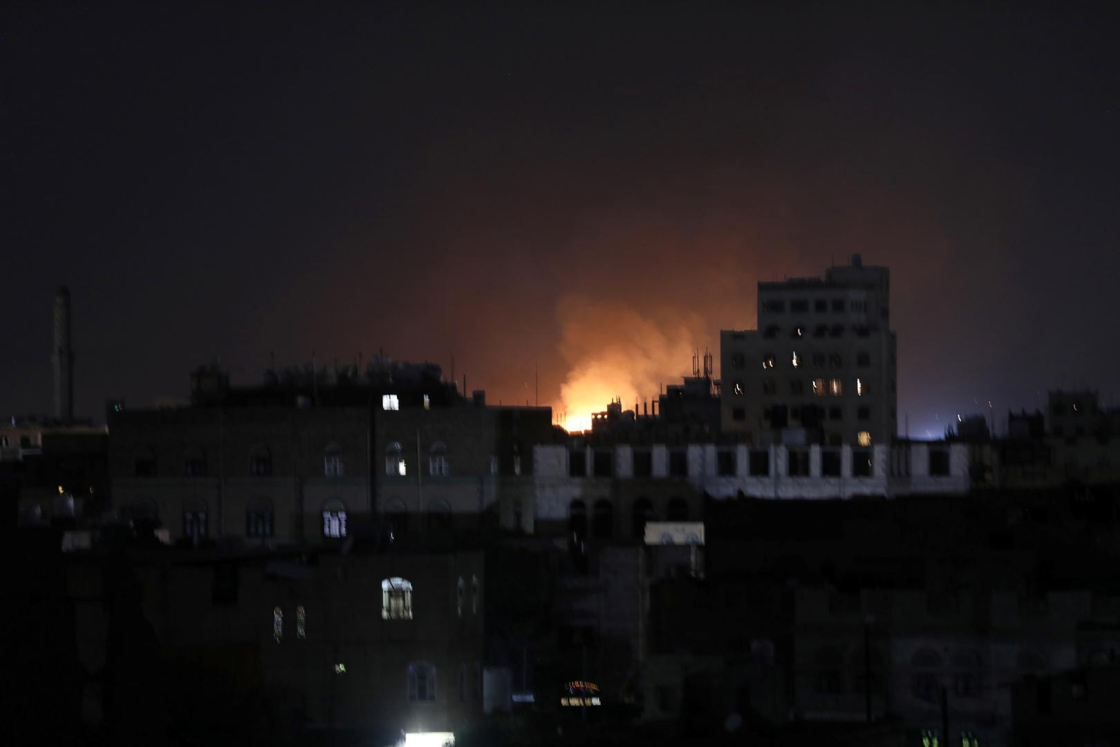 قتيل و 3 جرحى بغارات للتحالف العربي على صنعاء