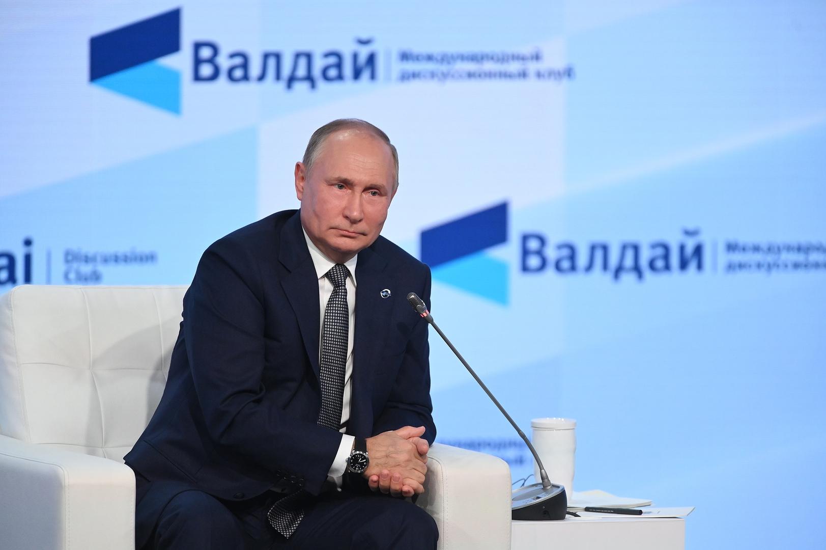 بوتين: الشركات الأمنية الخاصة من روسيا لا تعمل بتكليف من الدولة