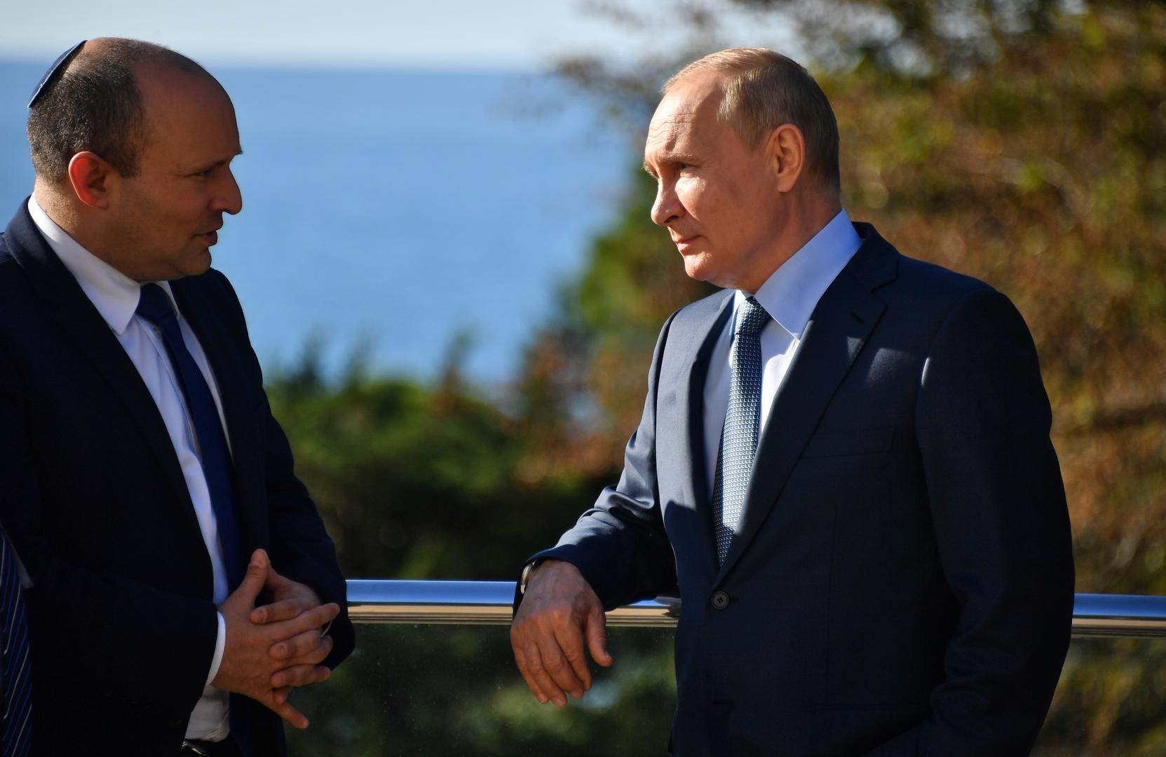 بعد محادثات مع بوتين.. رئيس وزراء إسرائيل يمدد زيارته إلى روسيا