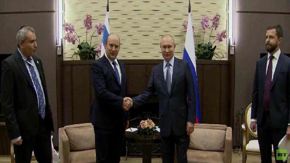 مباحثات بين بوتين وبينيت في سوتشي