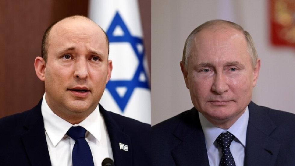 الرئيس الروسي فلاديمير بوتين ورئيس الوزراء الإسرائيلي نفتالي بينيت