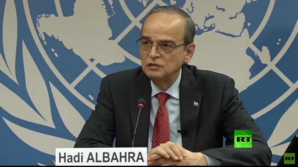 ممثل وفد المعارضة السورية، الرئيس المشترك للجنة الدستورية هادي البحرة