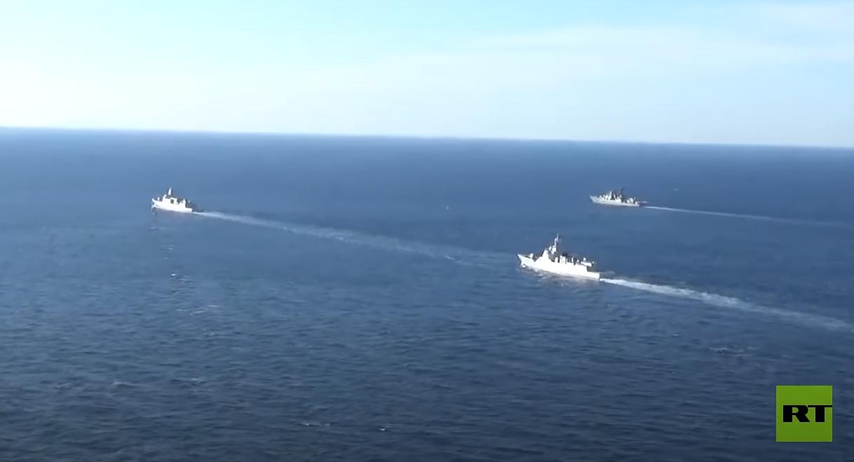 سفن حربية روسية وصينية تسير دورية مشتركة في المحيط الهادئ