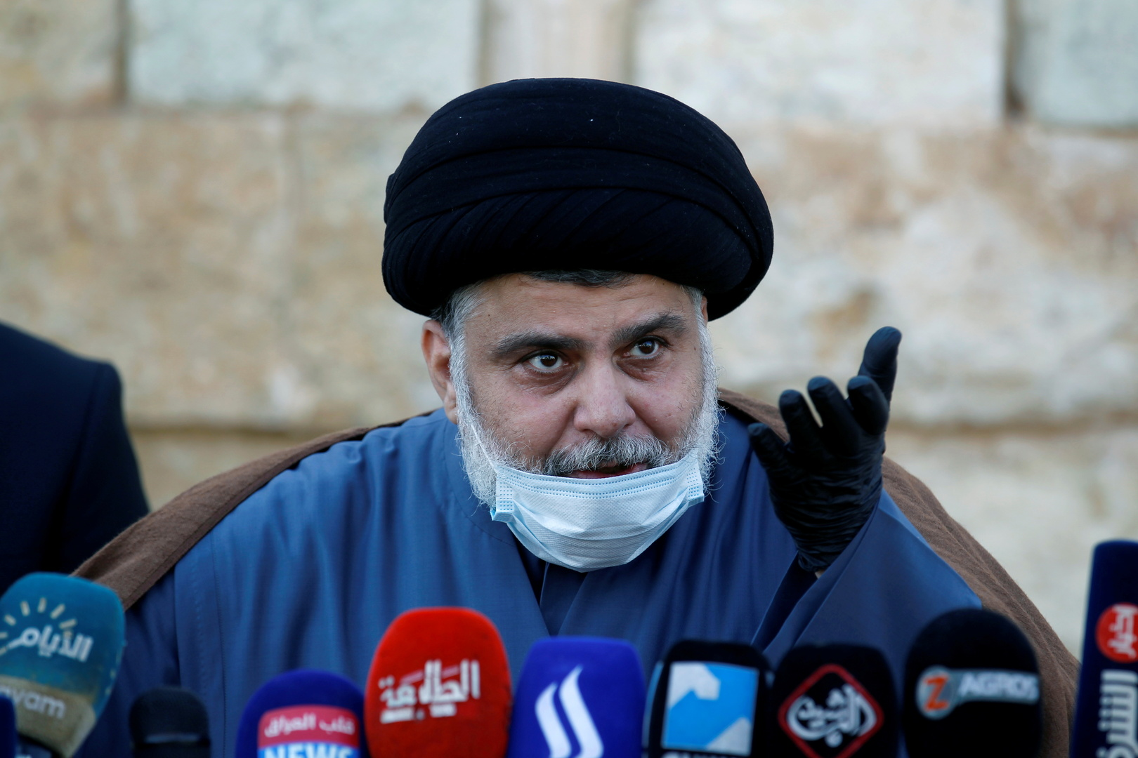 زعيم التيار الصدري في العراق، مقتدى الصدر