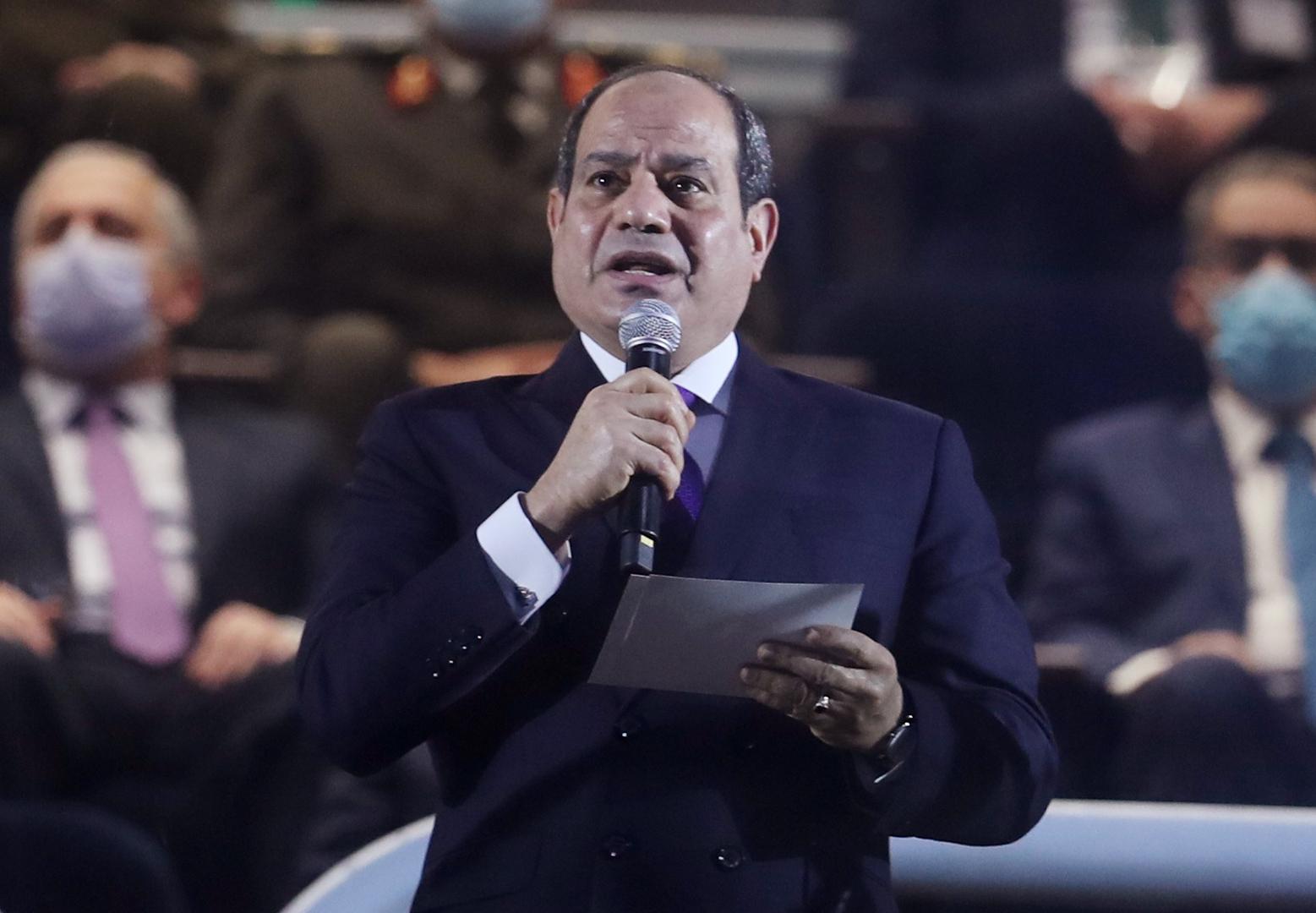 السيسي: مصر تتطلع للتوصل بأقرب وقت وبلا مزيد من الإبطاء لاتفاقية متوازنة وملزمة بشأن سد النهضة
