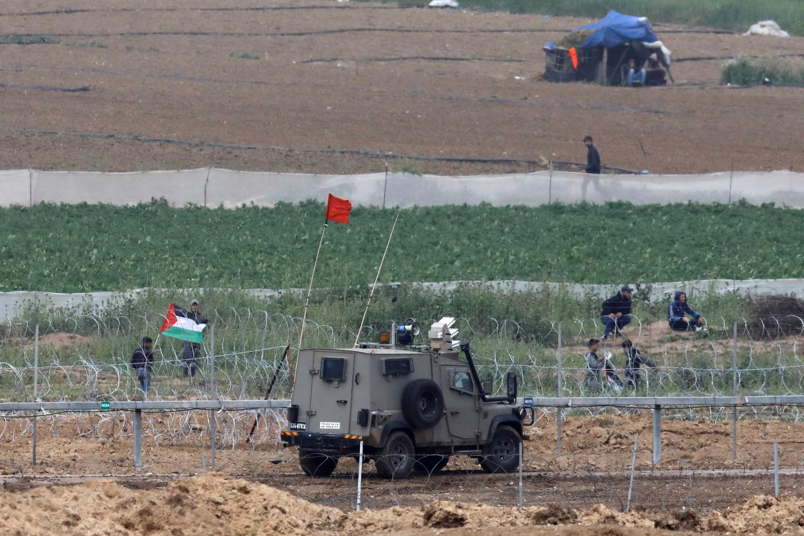 الجيش الإسرائيلي على حدود قطاع غزة