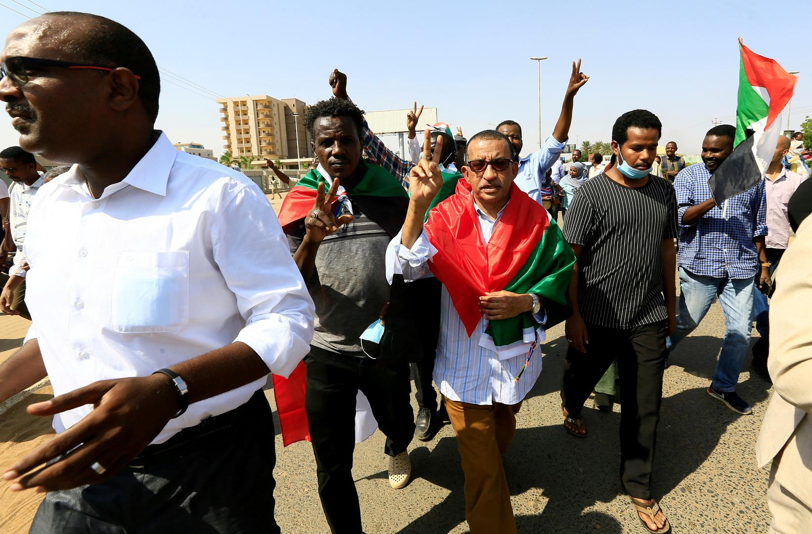 احتجاجات ضد انقلاب الجيش على الحكومة في السودان