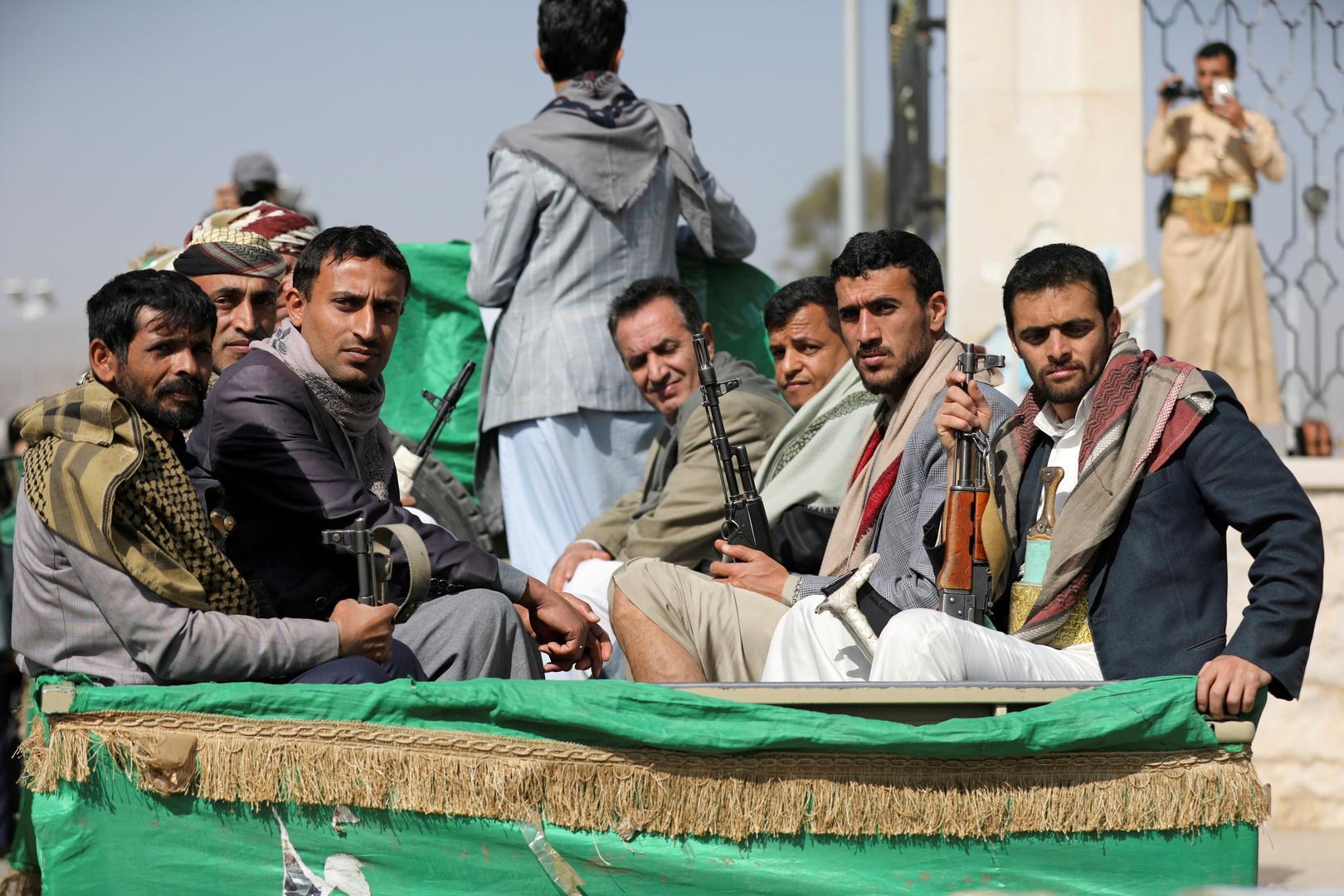 """عناصر من جماعة """"أنصار الله"""" (الحوثيون)"""