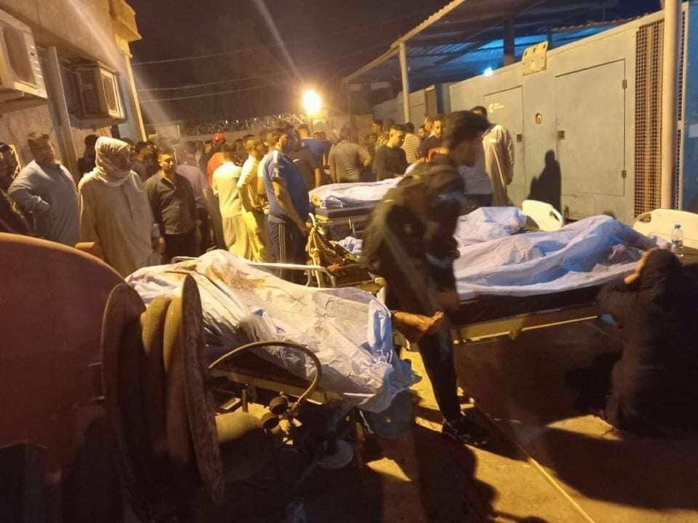 مشاهد أولية لعملية نقل القتلى والجرحى الذين سقطوا بهجوم لـ