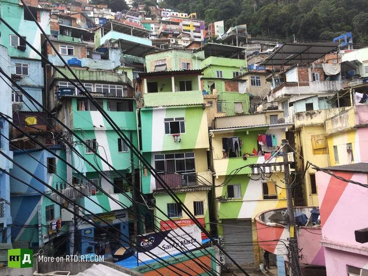 Rio favela children in city of God