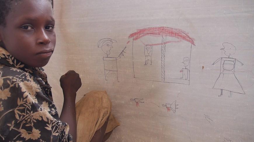 Boko Haram survivor camp in Chad