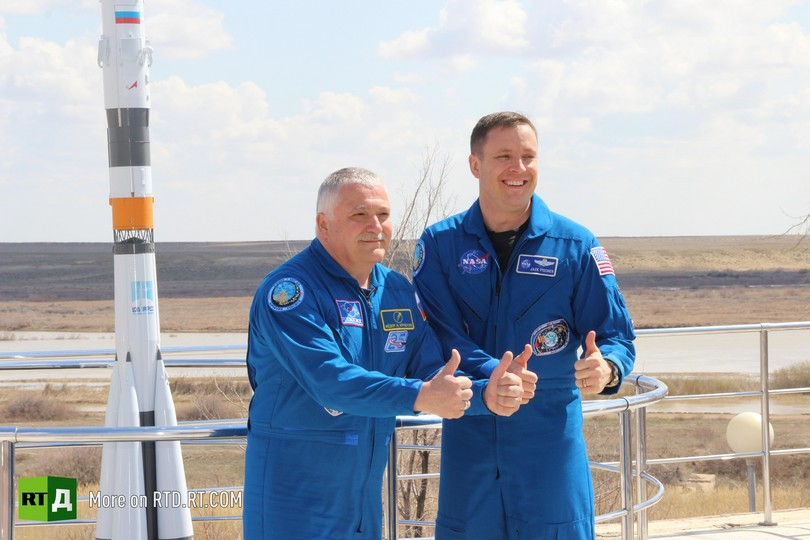Russian cosmonaut's journey into space
