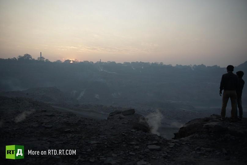 Coal pollution Jharia