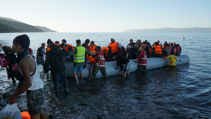 Mediterranean migrant crisis in Lesbos and Clowns Without Borders