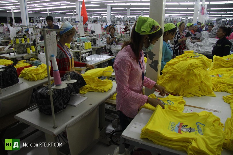 Cambodia garment industry workers' exploitation