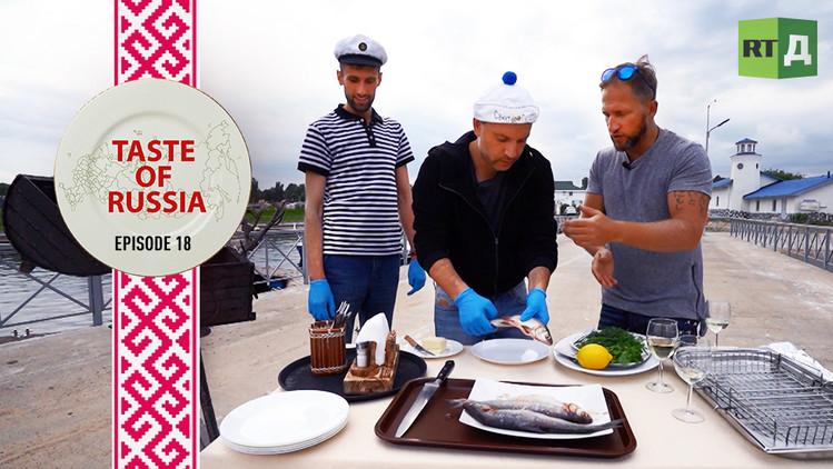 It S Fish Day Preparing Native Russian Fish On The Shore