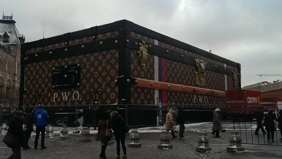 Мэрия: павильон-чемодан на Красной площади будет разобран в ближайшее время