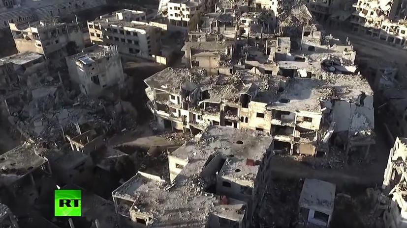 Корреспондент RT снял эксклюзивные кадры разрушенного сирийского Хомса