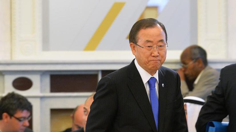 Пан Ги Мун: Эксперты ОЗХО и ООН одобрили сирийский порт Латакия в качестве места для отгрузки химоружия из Сирии