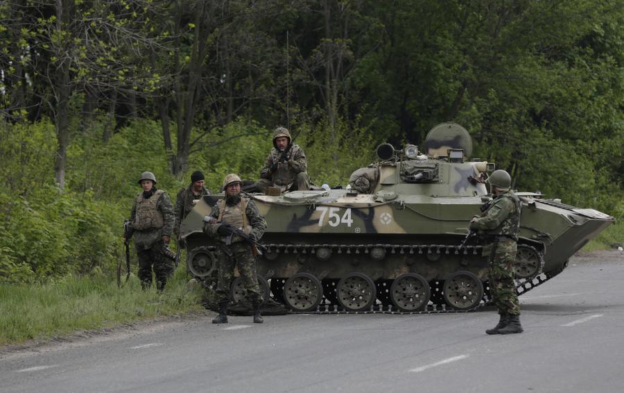 Ополченцы подбили БТР украинской армии под Краматорском, погибли 7 солдат