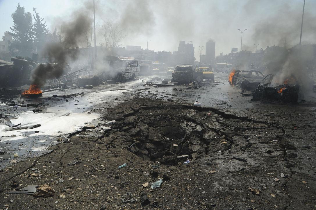 Серия взрывов прогремела в Дамаске