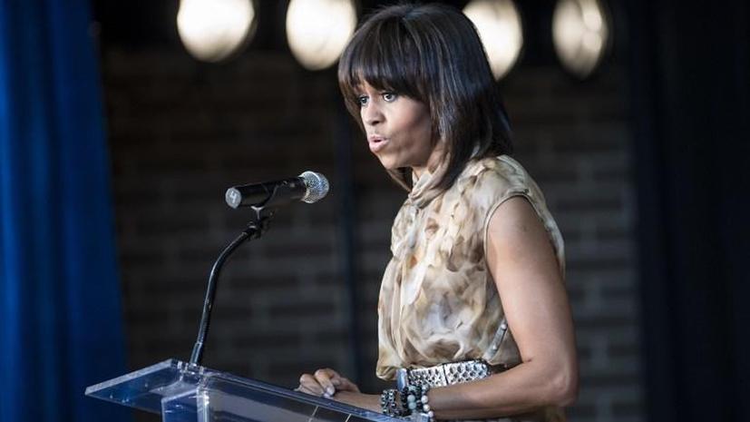 Речь Мишель Обамы была прервана активисткой  ЛГБТ-сообщества