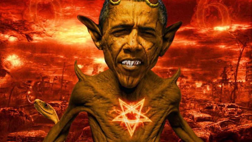 Египетские СМИ нашли сходство между Бараком Обамой и сатаной